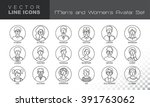 modern thin contour line icons... | Shutterstock .eps vector #391763062
