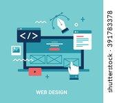 flat style illustration for web ...