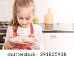 happy smiling seven years old... | Shutterstock . vector #391825918