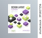 vector design layout cover... | Shutterstock .eps vector #391827256