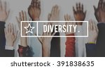 diverse different range mix... | Shutterstock . vector #391838635