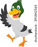 funny baby duck waving hand   Shutterstock .eps vector #391842565
