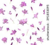 repeating blossoming pink...   Shutterstock . vector #391853095