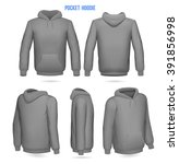 hoodie with pockets | Shutterstock .eps vector #391856998