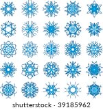set of 25 a six rays crystal... | Shutterstock .eps vector #39185962