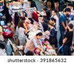 abstract blur the people at the ... | Shutterstock . vector #391865632