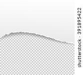 torn paper banner on the... | Shutterstock .eps vector #391895422