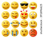 emoticon. vector style smile... | Shutterstock .eps vector #391896625