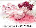 spa composition of roses   Shutterstock . vector #391897846
