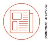 newspaper line icon. | Shutterstock .eps vector #391899052