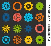 gears and cogs icons set. cog...