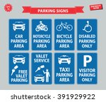 car parking sign  car parking... | Shutterstock .eps vector #391929922