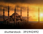 The Blue Mosque During Sunset...