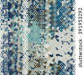abstract art grunge seamless... | Shutterstock .eps vector #391953292
