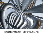 outdoor pipelines in the... | Shutterstock . vector #391966078