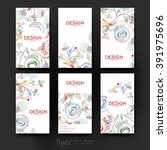 floral abstract vector brochure ... | Shutterstock .eps vector #391975696