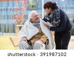 photo of elderly man and his... | Shutterstock . vector #391987102