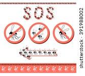 no pesky mosquitoes in the... | Shutterstock .eps vector #391988002