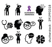 seniors health   alzheimer's... | Shutterstock .eps vector #391993318