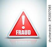 fraud danger hazard sign | Shutterstock .eps vector #392007085