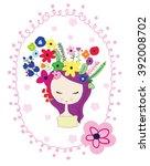 girl   Shutterstock .eps vector #392008702
