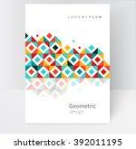 brochure  leaflet  flyer  cover ... | Shutterstock .eps vector #392011195