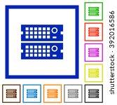 set of color square framed rack ...
