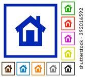 set of color square framed home ...