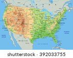 high detailed united states of... | Shutterstock .eps vector #392033755