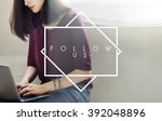 Small photo of Follow Us Join Social Media Network Concept