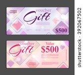 gift voucher template. can be... | Shutterstock .eps vector #392067502