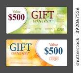 gift voucher template. can be... | Shutterstock .eps vector #392067526