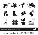 gardening icon set     black...   Shutterstock .eps vector #392077432