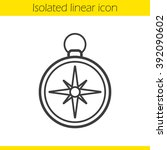 compass linear icon. pocket... | Shutterstock .eps vector #392090602