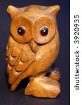 Isolated Wooden Owl Object On...