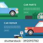 car parts vector set. car... | Shutterstock .eps vector #392093782