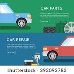 car parts vector set. car... | Shutterstock .eps vector #392093782