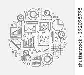 data analytics illustration  ... | Shutterstock .eps vector #392095795