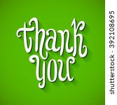 a thank you message made of... | Shutterstock .eps vector #392108695