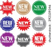 new product signs set  new... | Shutterstock .eps vector #392109346