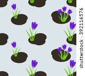 seamless spring pattern with  ... | Shutterstock .eps vector #392116576