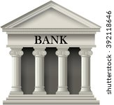 bank building icon in a classic ... | Shutterstock .eps vector #392118646