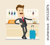 manager or business man is... | Shutterstock .eps vector #392122876