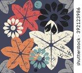 elegant endless pattern with... | Shutterstock .eps vector #392123986