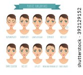 plastic surgery face and clinic ... | Shutterstock .eps vector #392129152