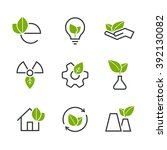 ecology half colored vector... | Shutterstock .eps vector #392130082