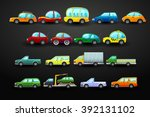 car vector icons set on the... | Shutterstock .eps vector #392131102