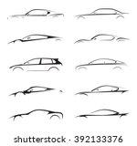 original concept supercar ... | Shutterstock .eps vector #392133376