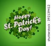 abstract bright green clover... | Shutterstock .eps vector #392139412