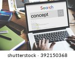 concept creative ideas... | Shutterstock . vector #392150368